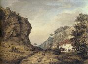 Samuel Hieronymous Grimm Cresswell Crags oil painting