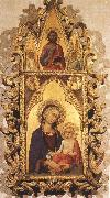 Simone Martini Madonna and Child with Angels and the Saviour oil painting on canvas