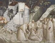 Spinello Aretino St.Benedict Revives a Monk from under the Rubble oil painting