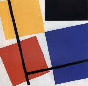 Theo van Doesburg Simultaneous Counter Composition oil painting