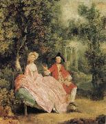 Lady and Gentleman in a Landscape, Thomas Gainsborough