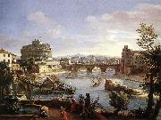 The Castel Sant'Angelo from the South, WITTEL, Caspar Andriaans van