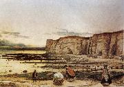 William Dyce Pegwell Bay in Kent. oil painting