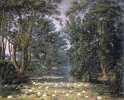 William Turner of Oxford Cherwell Water Lilies, oil painting