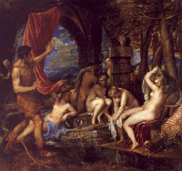 Titian Diana and Actaeon
