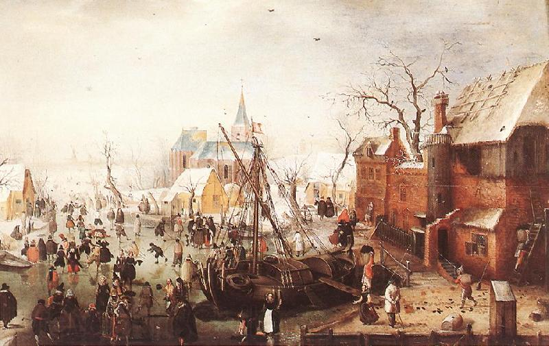 AVERCAMP, Hendrick Winter Scene at Yselmuiden  hhh