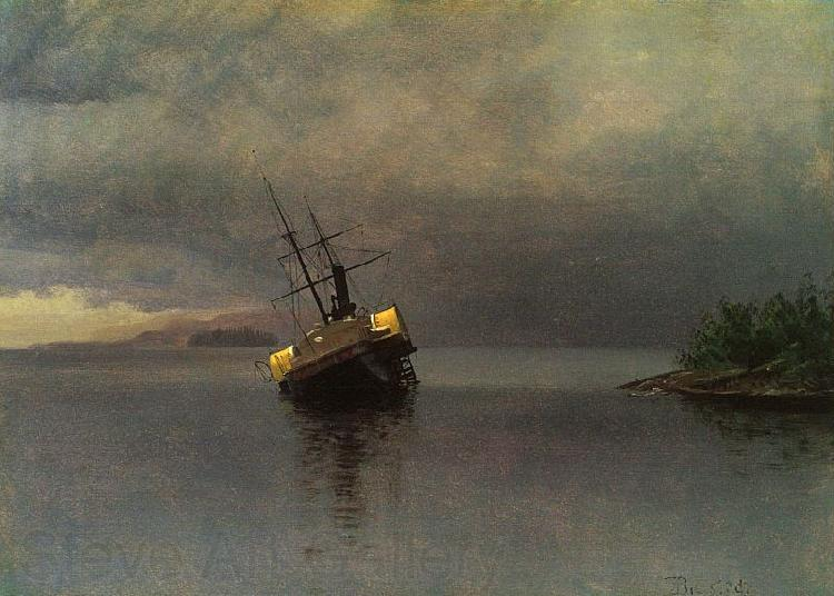 Albert Bierstadt Wreck of the Ancon in Loring Bay, Alaska