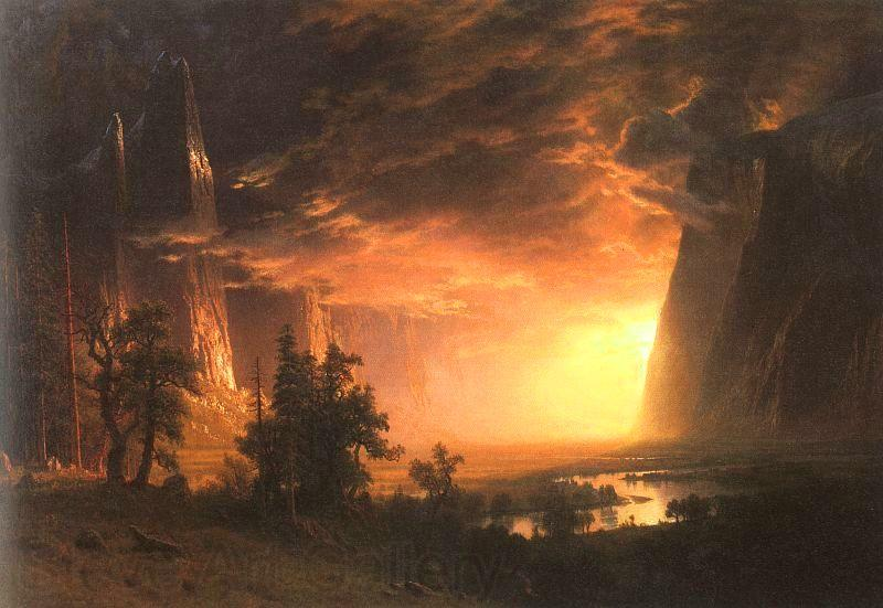 Albert Bierstadt Sunset in the Yosemite Valley