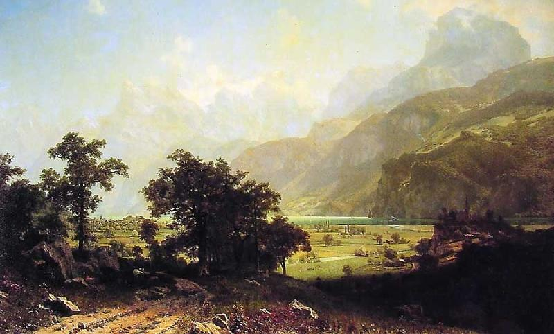 Albert Bierstadt Lake Lucerne, Switzerland