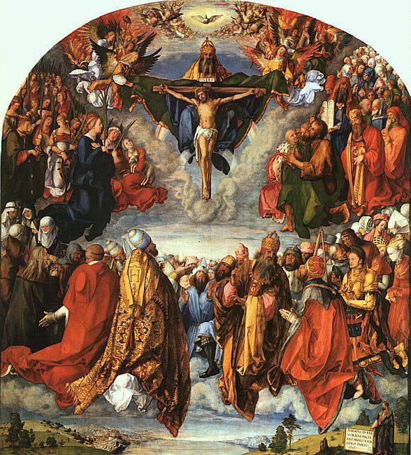 Albrecht Durer Adoration of the Trinity