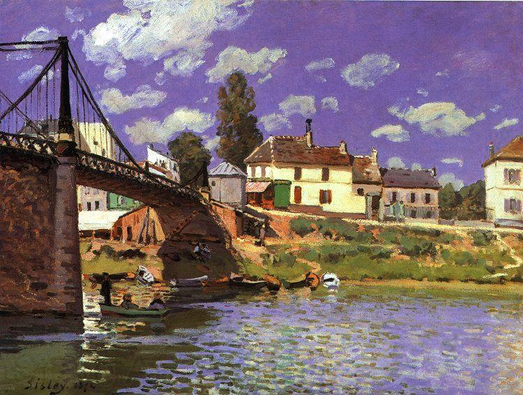 Alfred Sisley The Bridge at Villeneuve la Garenne