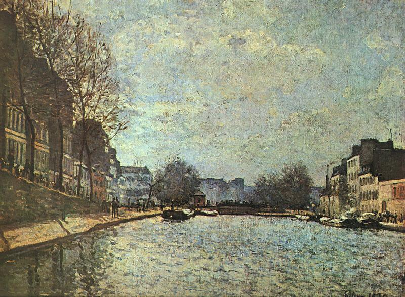 Alfred Sisley The St.Martin Canal