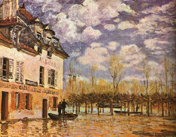 Alfred Sisley Boat During a Flood