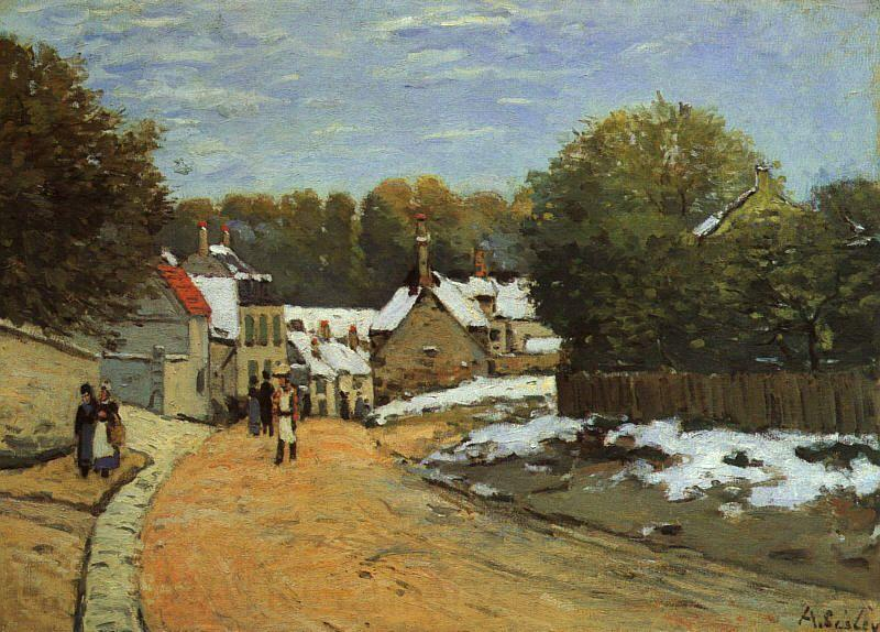 Alfred Sisley Early Snow at Louveciennes