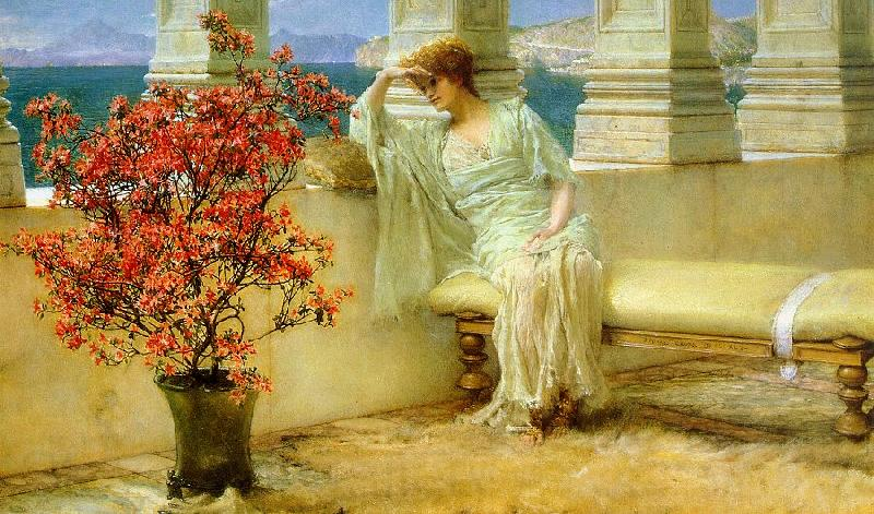 Alma Tadema Her Eyes are with Her Thoughts