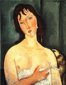 Amedeo Modigliani Portrait of a yound woman (Ragazza)