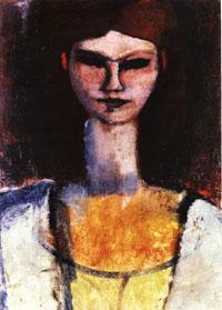 Amedeo Modigliani Bust of a Young Woman