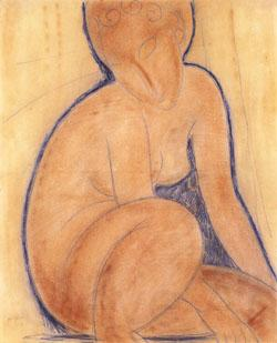 Amedeo Modigliani Crouched Nude