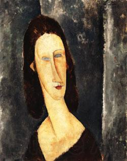 Amedeo Modigliani Blue Eyes ( Portrait of Madame Jeanne Hebuterne )