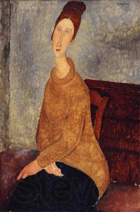 Amedeo Modigliani Jeanne Hebuterne with Yellow Sweater