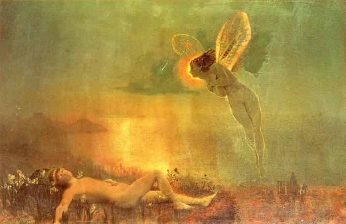 Atkinson Grimshaw Endymion on Mount Latmus