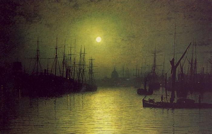 Atkinson Grimshaw Nightfall Down the Thames
