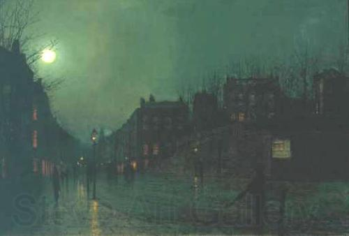 Atkinson Grimshaw View of Heath Street by Night