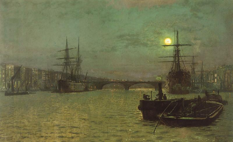 Atkinson Grimshaw London Bridge, Half Tide