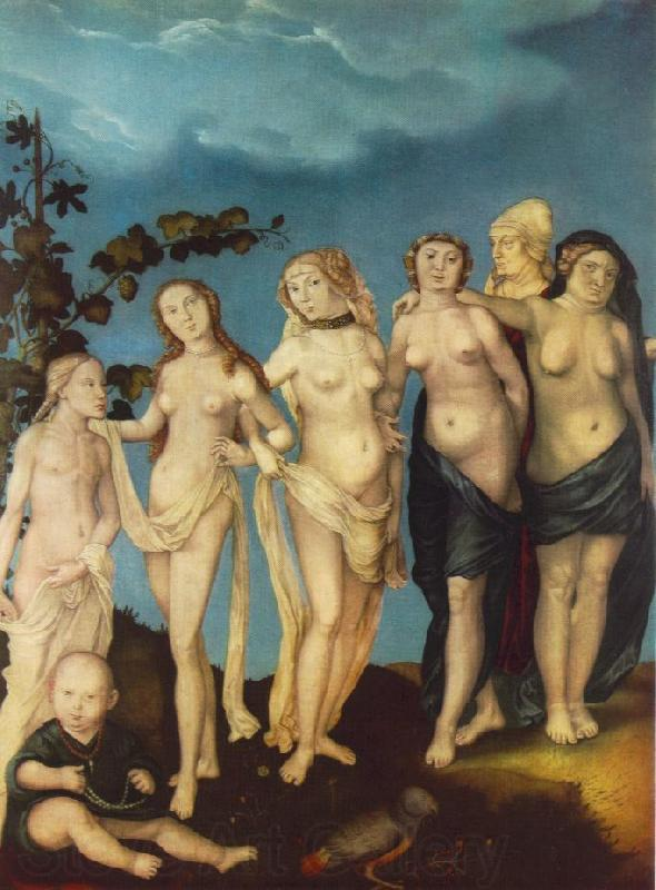 BALDUNG GRIEN, Hans The Seven Ages of Woman ww