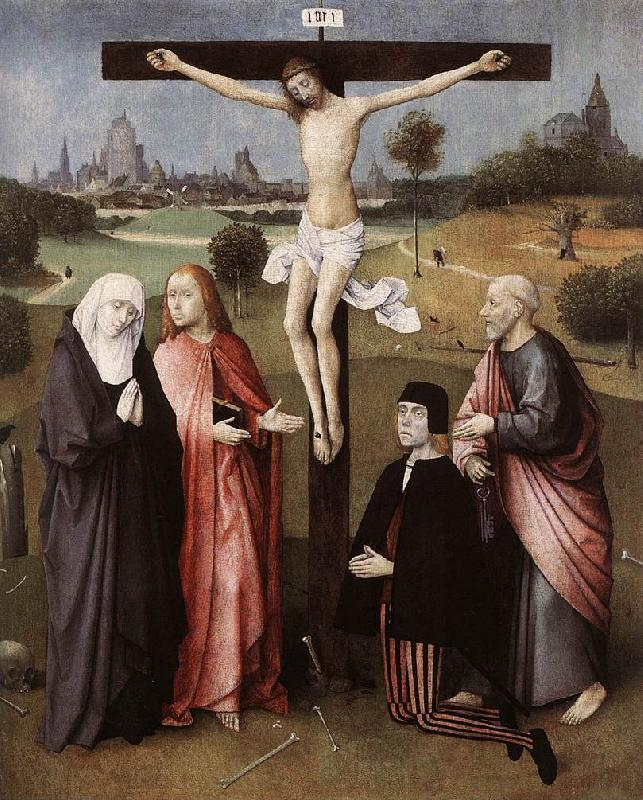 BOSCH, Hieronymus Crucifixion with a Donor  hgkl