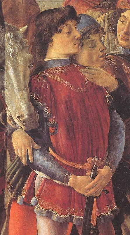 BOTTICELLI, Sandro The Adoration of the Magi (detail)