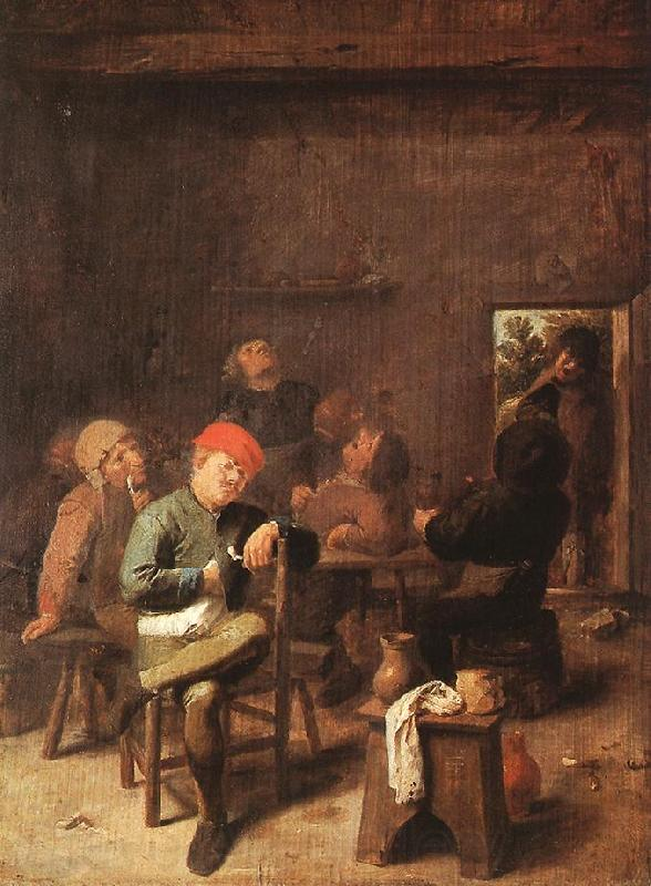 BROUWER, Adriaen Peasants Smoking and Drinking f