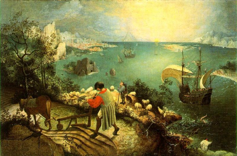 BRUEGEL, Pieter the Elder Landscape with the Fall of Icarus g