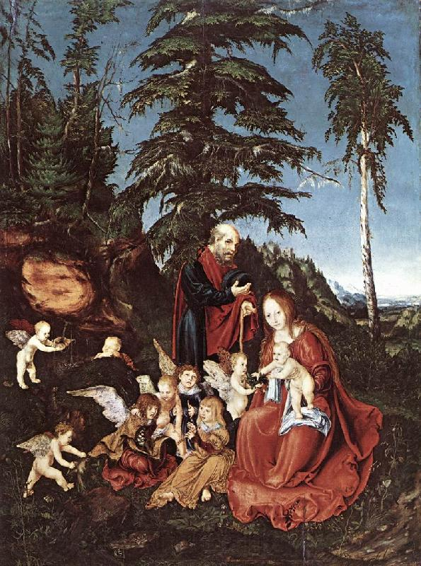 CRANACH, Lucas the Elder The Rest on the Flight into Egypt  dfg