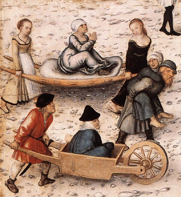 CRANACH, Lucas the Elder The Fountain of Youth (detail) sd