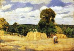 Camille Pissarro The Harvest at Montfoucault