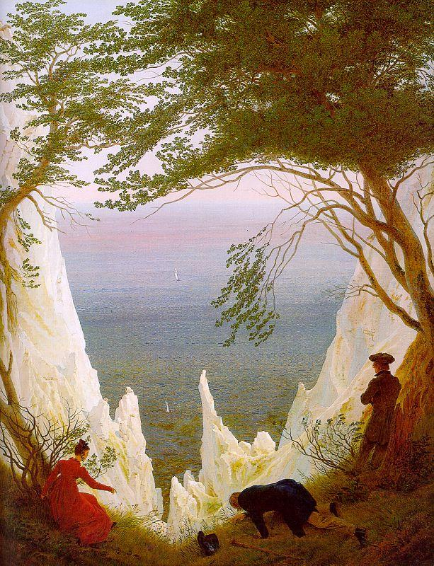Caspar David Friedrich Chalk Cliffs on Rugen