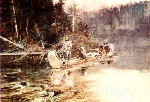 Charles M Russell On the Flathead