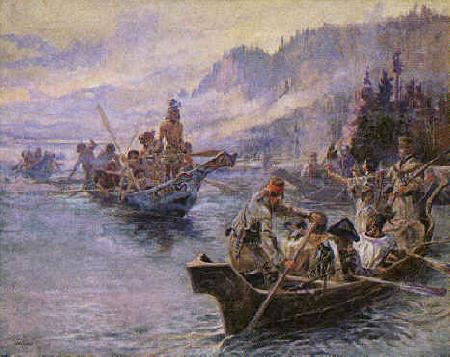 Charles M Russell Lewis and Clark on the Lower Columbia