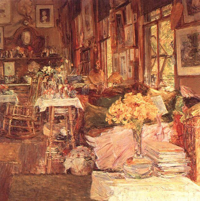 Childe Hassam The Room of Flowers