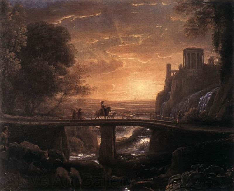 Claude Lorrain Imaginary View of Tivoli dfg