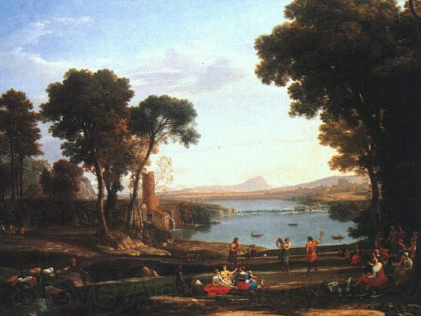 Claude Lorrain Landscape with the Marriage of Isaac and Rebekah