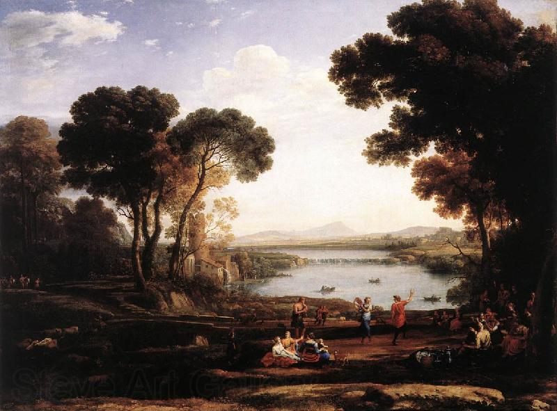 Claude Lorrain Landscape with Dancing Figures (The Mill) vg