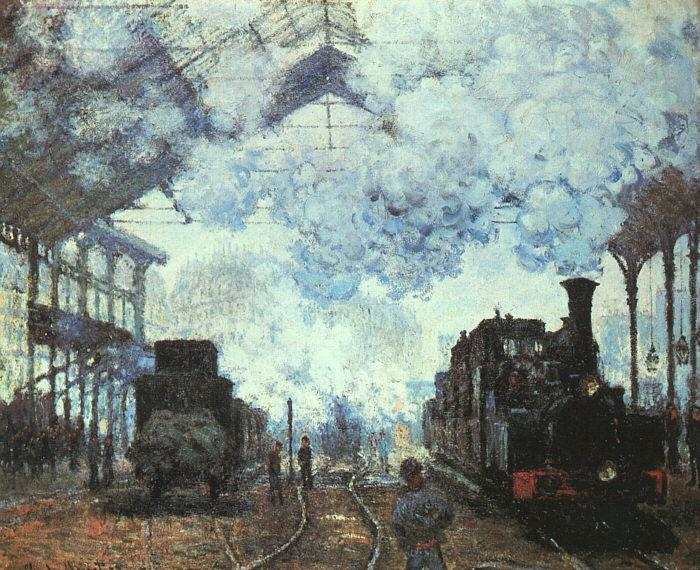 Claude Monet Arrival at St Lazare Station