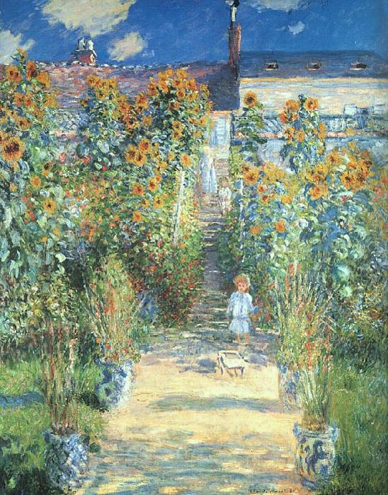 Claude Monet Artist s Garden at Vetheuil