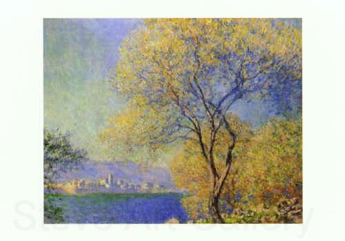 Claude Monet Antibes seen from the Salis Gardens