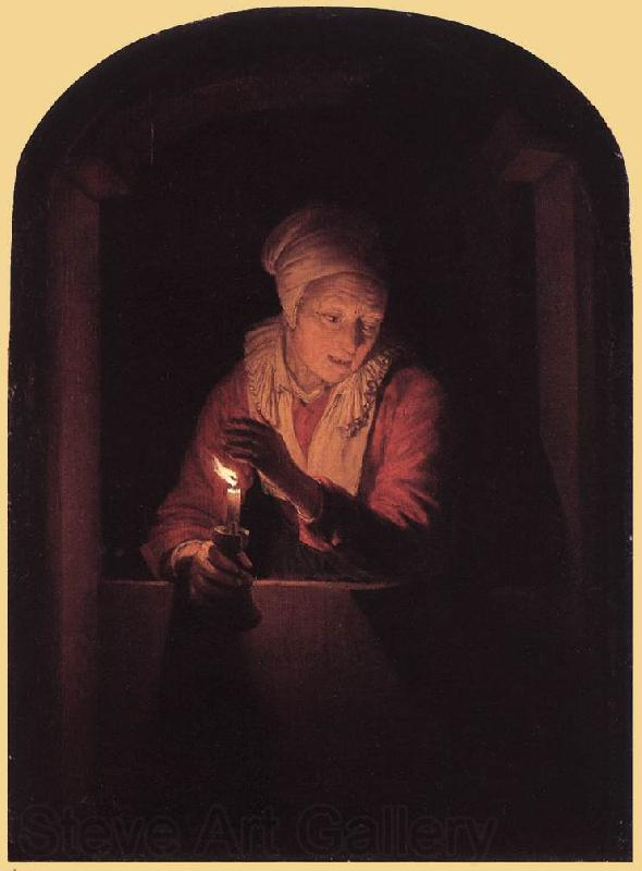DOU, Gerrit Old Woman with a Candle  df