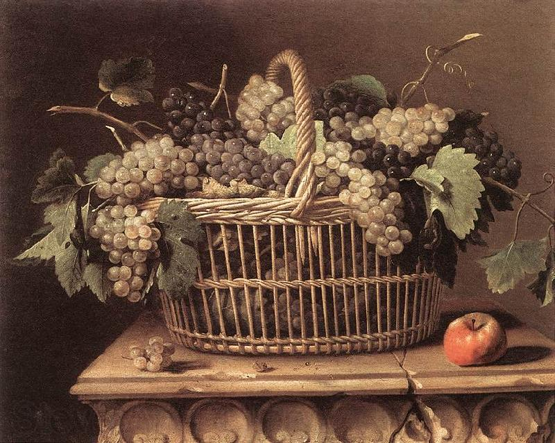 DUPUYS, Pierre Basket of Grapes dfg