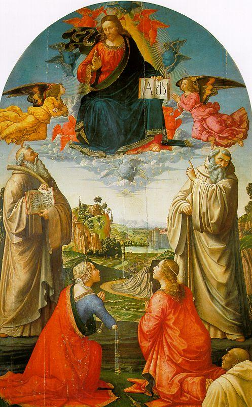 Domenico Ghirlandaio Christ in Heaven with Four Saints and a Donor