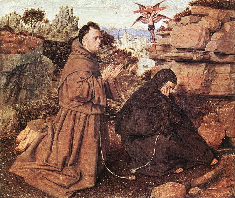 EYCK, Jan van Stigmatization of St Francis df
